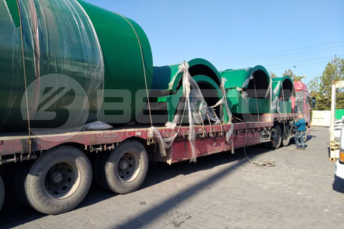 Shipment of Beston Plastic Pyrolysis Machine in Canada
