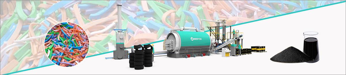 Rubber pyrolyse-installatiebanner