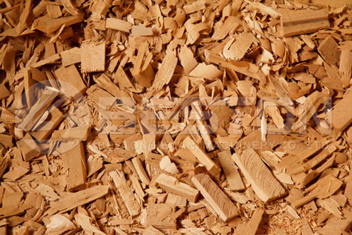 Sawdust Carbonized by Biochar Production Equipment
