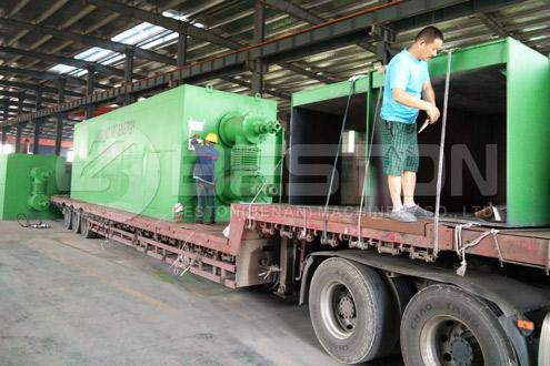 Отгрузка завода по пиролизу пластмасс Beton в Румынии