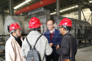 Beston team brought Indonesian customers to see the plant.