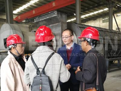 Indonesia Customers Visited Beston Charcoal Making Machine