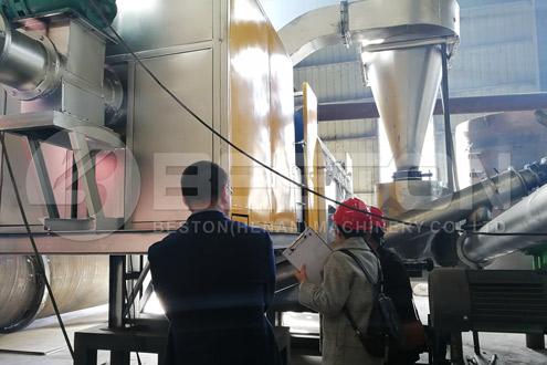 Indonesian customers saw charcoal making equipment