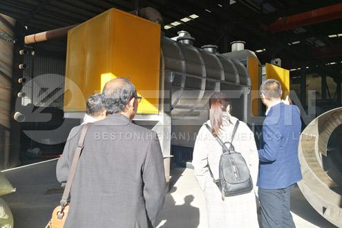 Indonesian customers saw palm kernel shell charcoal making machine