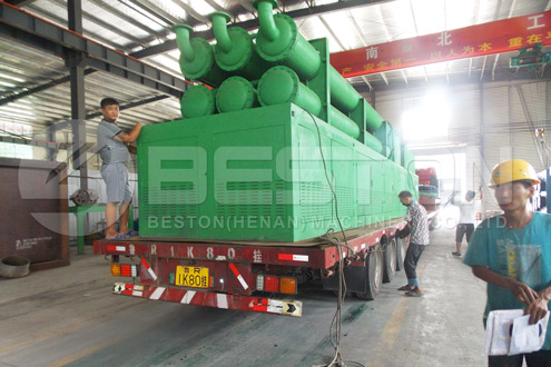 BLL-30 Beston Waste Plastic Pyrolysis Machine Shipped to Romania