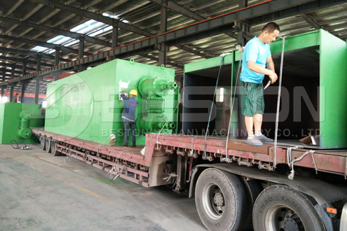 Beston Waste Plastic Pyrolysis Machine Shipped to Romania