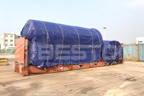 Tyre to Oil Machine Covered with Tarpaulin