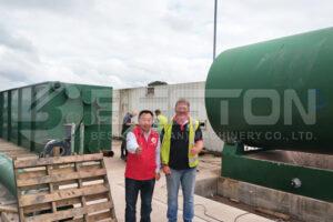 Phản hồi tốt cho Beston Thiết bị nhiệt phân lốp ở Anh