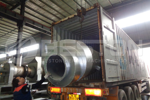 Palm Kernel Shell Charcoal Making Machine Was Shipped to Ghana