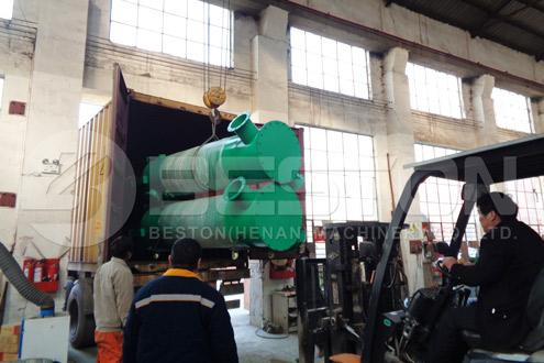 Shipment of Charcoal Making Equipment