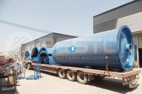 Shipment of BLJ-16 Tyre Recycling Equipment to Nigeria