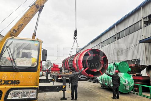Shipment of Beston Wood Charcoal Making Machine to Russia