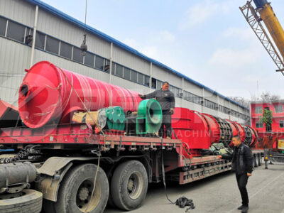 Отгрузка древесно-стружечной машины для производства древесного угля