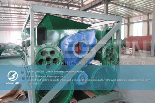 Shipment of Tyre Pyrolysis Plant