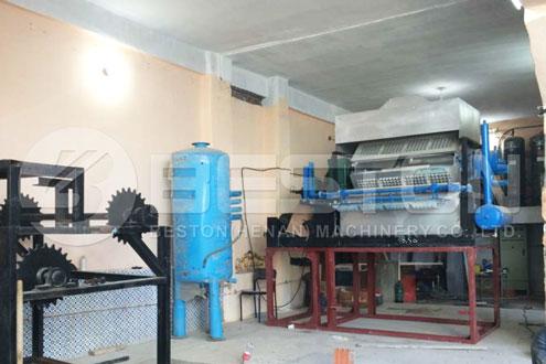 Beston Egg Tray Making Machine Installed in Algeria