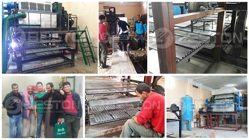 Beston Egg Tray Making Machine in Algeria