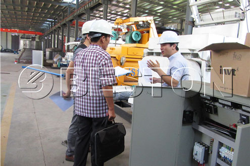 Checking of Beston Waste Pyrolysis Equipment
