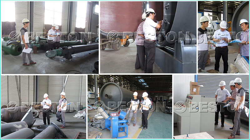 South Korean Customer Checked Waste Pyrolysis Equipment