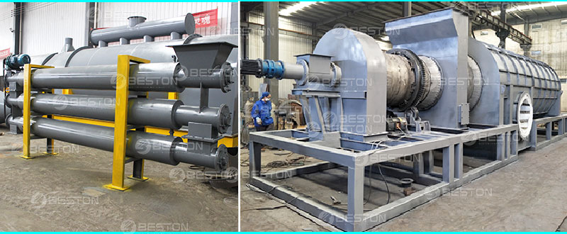 Beston Sawdust Charcoal Making Equipment with Safety Device