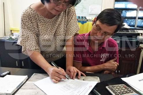 Indonesische klant schreef feedback
