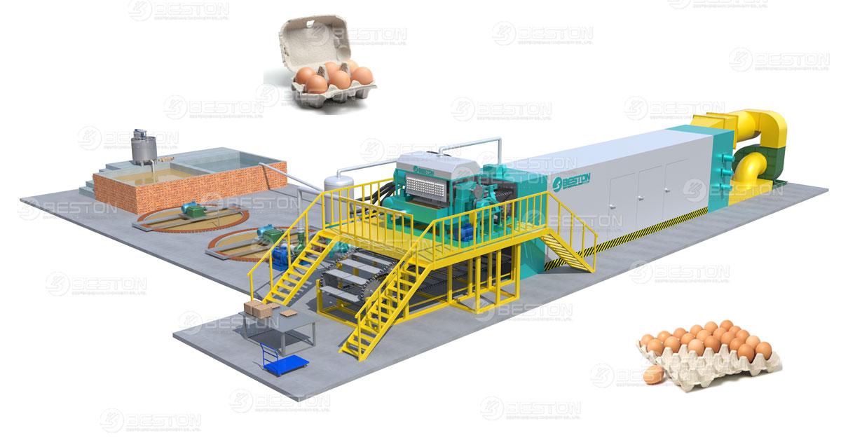 Beston Fully Automatic Paper Egg Tray Machine