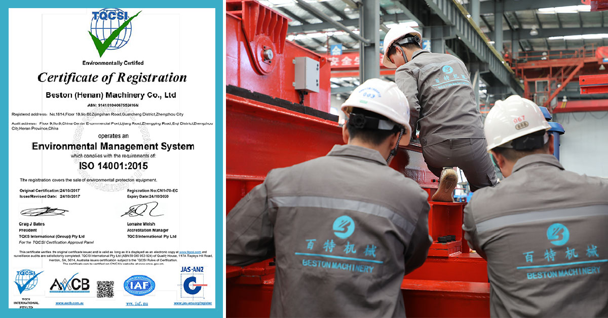 Beston Machinery ISO