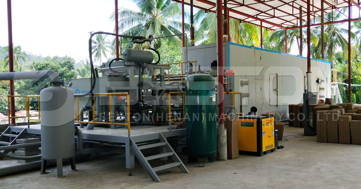 Beston Paper Pulp Moulding Machine Installed in the Philippines