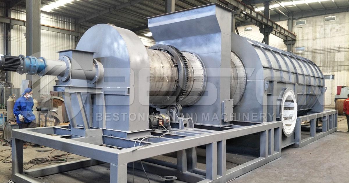 Beston Rice Husk Carbonizer na may nasusunog na Gas Recycling System