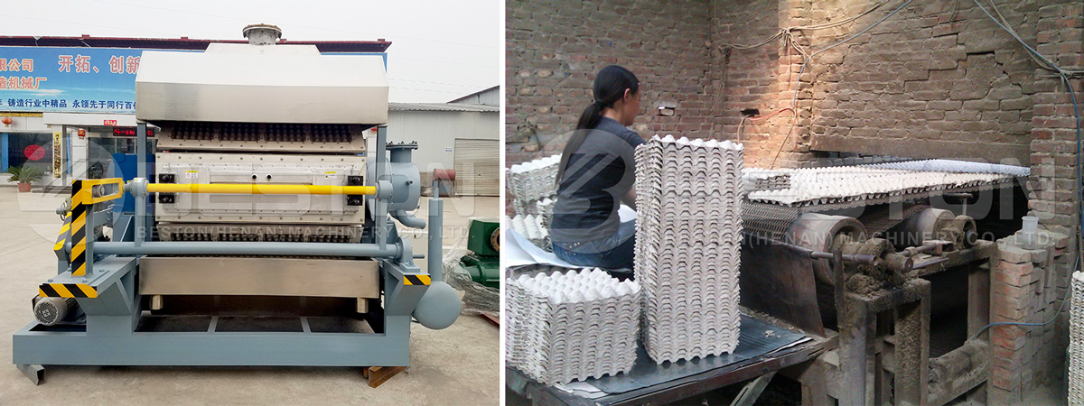Beston Semi Automatic Egg Tray Forming Machine