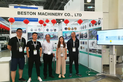 Beston Team Joined Exhibition in Russia