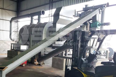 Coconut Charcoal Machine installeret i Brasilien