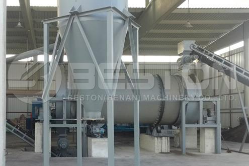 Maskine til fremstilling af kokosnødkul i Tyrkiet
