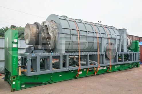 Kokosnødskal, der fremstiller reaktor til kull, sendt til Malaysia