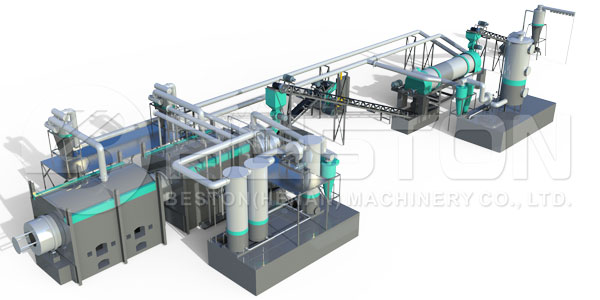 Continuous Biomass Pyrolysis Plant for Sale