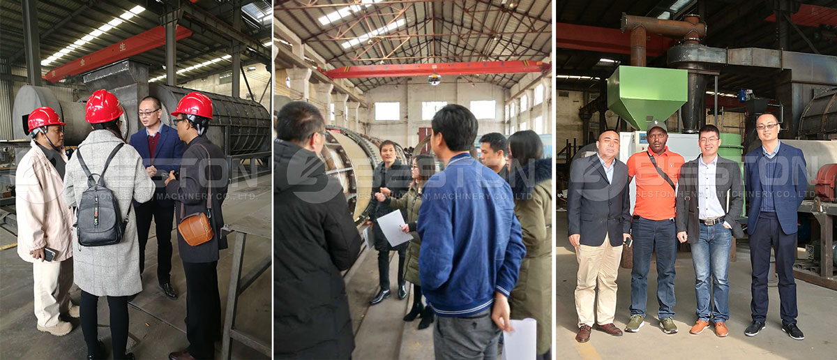 Nasuri ang Mga Customer Beston Rice Husk Charcoal Making Machine