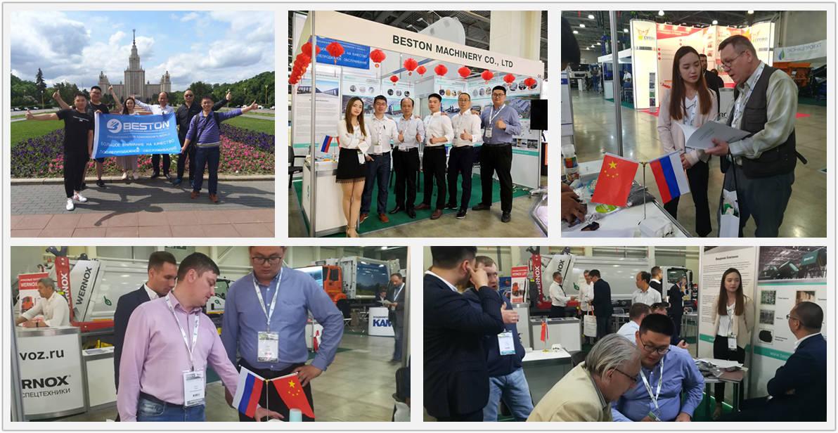 Exposição Beston Juntou-se na Rússia, Indonésia e Malásia