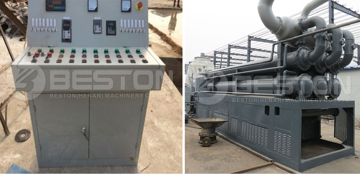 PLC and Condenser in Tyre Oil Plant