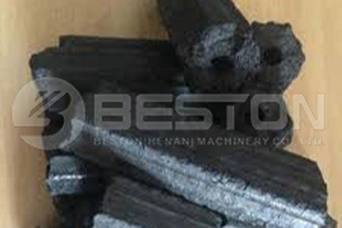 Rice Hull Charcoal Briquettes Fik fra Beston Rice Hull Carbonizer
