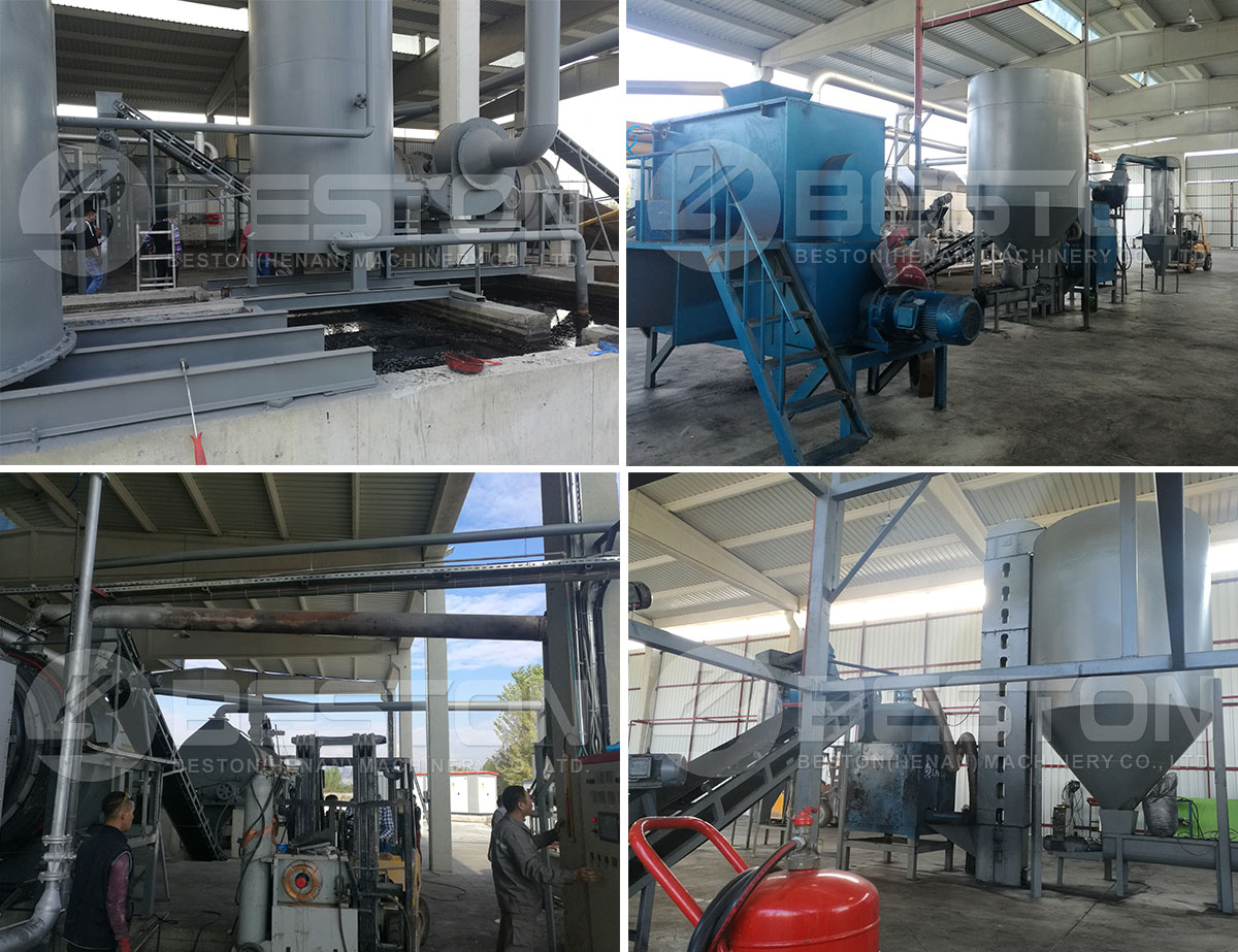 Ang Rice Husk Charcoal Making Machine Na-install sa Turkey