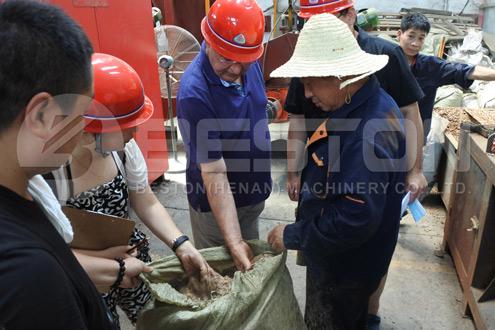 Spani Customer Visited Beston Manufacturing Factory