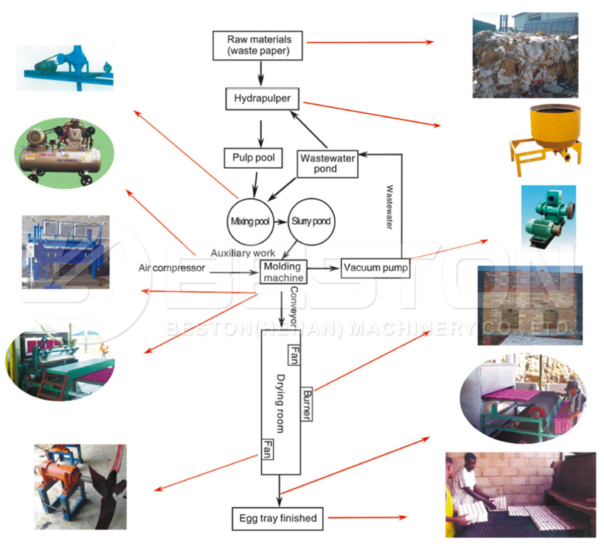 Working Process of Paper Pulp Molding Machine