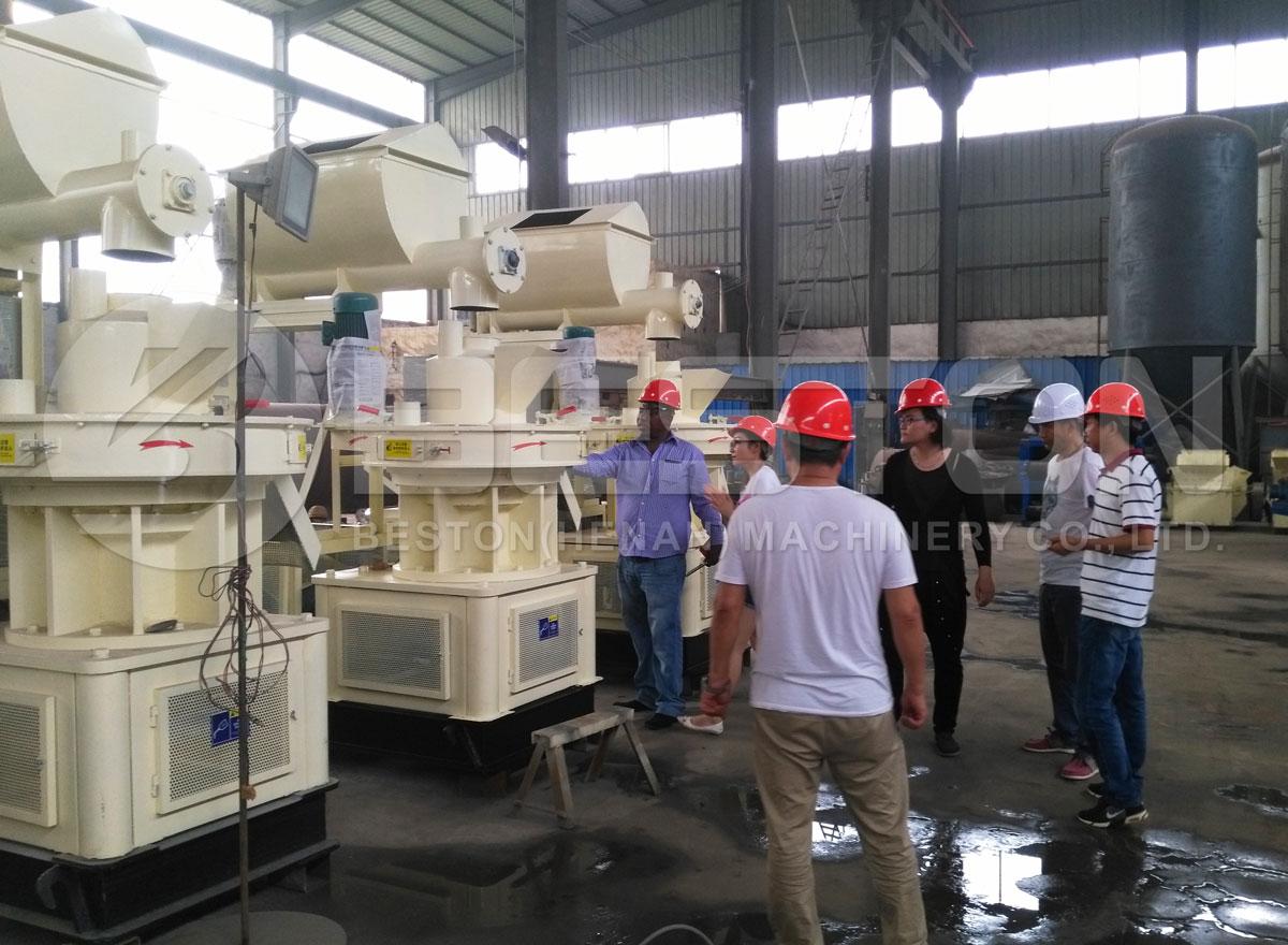 Cliente Africano Visitado Besotn Pellet Making Machine