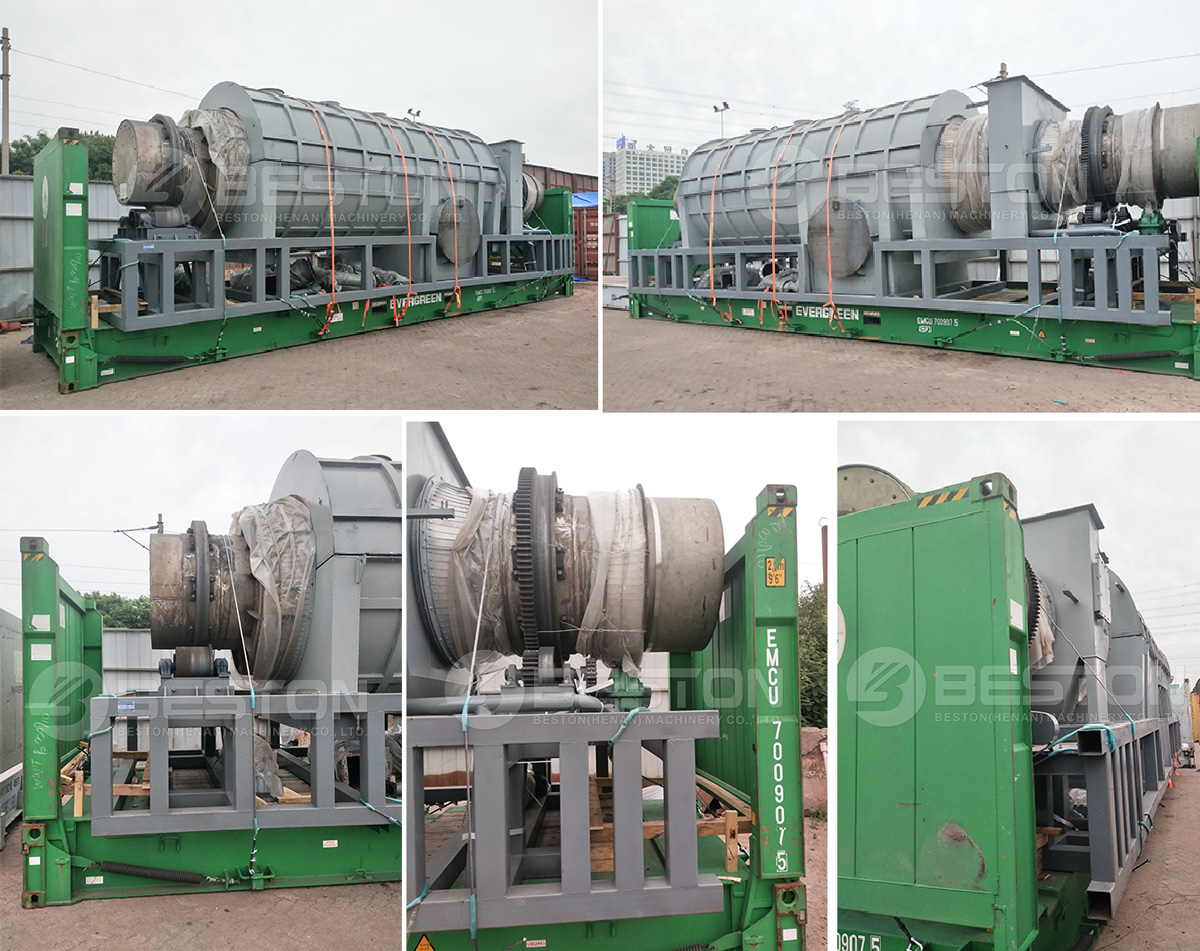 BST-30 Beston Palm Kernel Fiber Charcoal Making Machine Shipped to Malaysia