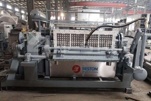 BTF-4-4 Beston Egg Tray Machine Shipped to Peru