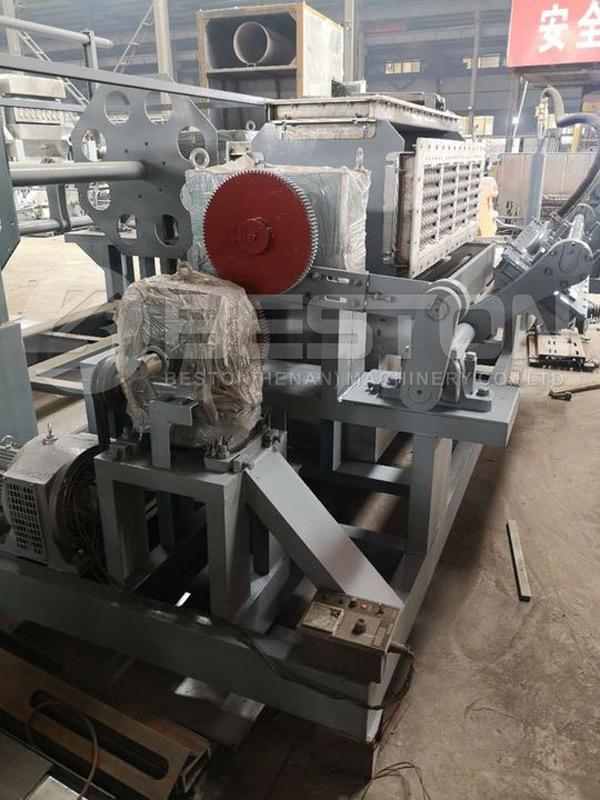 BTF-4-4 Egg Tray Making-Machine Shipped to Peru