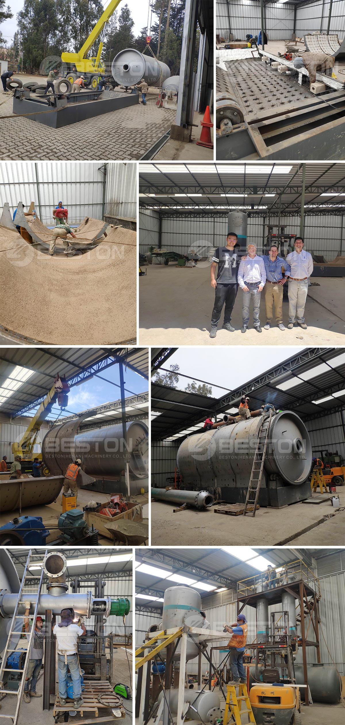 Beston Waste Pyrolysis Machine Installed in Chile