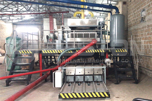 Coffee Cup Tray Making Machine Delivered to Armenia