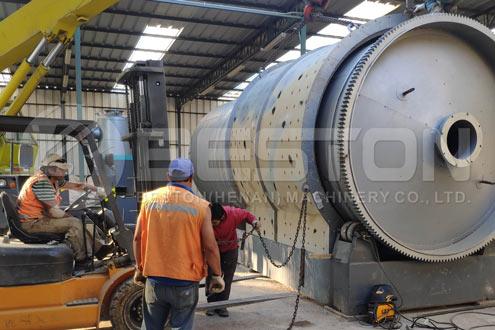 Máy nhiệt phân chất thải được lắp đặt ở Chile