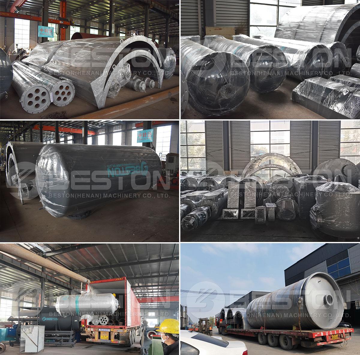 BLJ-16 Beston Waste Pyrolysis Equipment Shipped to Egypt