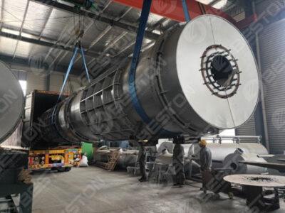 Beston Машина для производства древесного угля из кокосовой скорлупы отправлена в Мексику